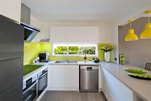 cuisine vert gris great good peinture cuisine vert gris With tapis jaune avec destockage canapé saint etienne