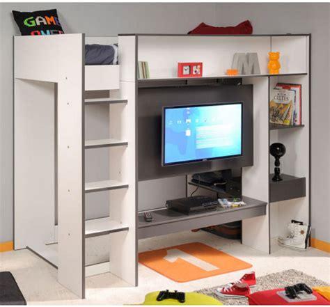 lit combiné bureau lit mezzanines enfant box secret de chambre