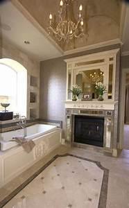 salle de bain contemporaine luxe With salle de bain design avec fausses cheminées décoratives