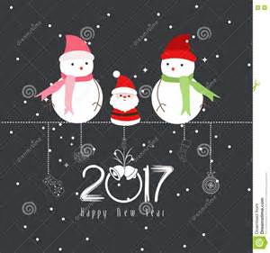 merry and happy new year 2017 the winter stock vector image 73636705