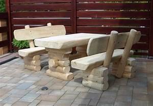 Rustikale Tische Aus Holz : rustikale kinder bank tisch garnitur aus massivem holz gartenb nke und tische gartenm bel ~ Indierocktalk.com Haus und Dekorationen