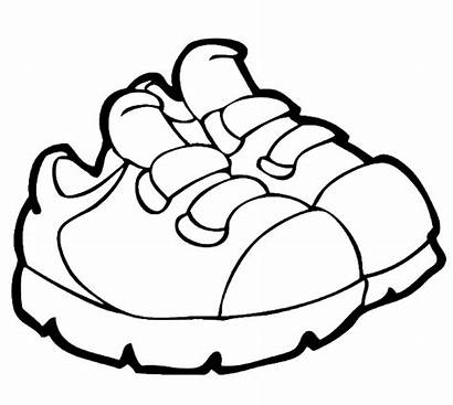 Shoes Shoe Clipart Coloring Pages Nike Drawing