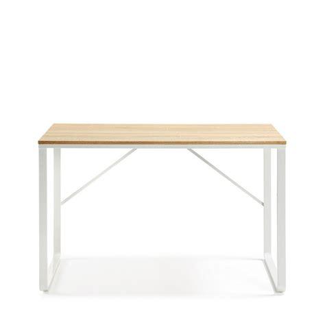 le de bureau en bois bureau design structure en métal blanc et plateau en bois
