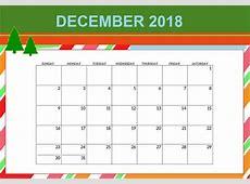 Wall Calendar December 2018 Calendar 2018