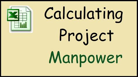 calculate manpower required   project  excel