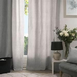 Rideau Gris Clair : rideau tamisant 140 x h260 cm manu gris clair rideau tamisant eminza ~ Teatrodelosmanantiales.com Idées de Décoration