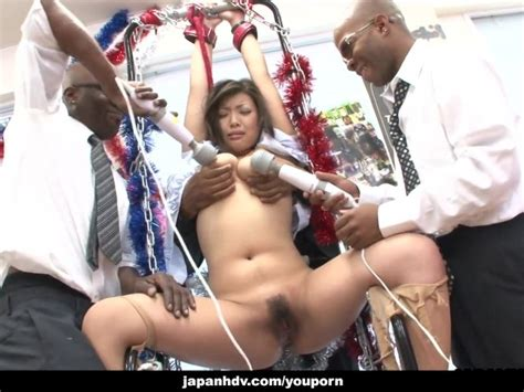 Slut Moans As She Gets To Be Toyed By The Black Fellas