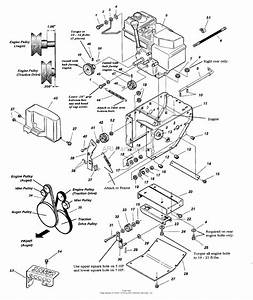 Simplicity 1694587 - 555m  5hp 22 U0026quot   Ms  Parts Diagram For Engine  Pulleys   U0026 Frame Group