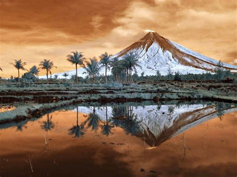 landscape nature trees mountain mount mayon philippines