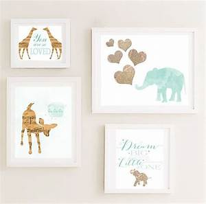 Gallery nursery wall art set your choice of prints