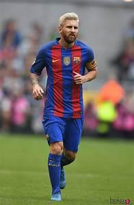 Leo Messi se tiñe de rubio platino durante la pretemporada ...