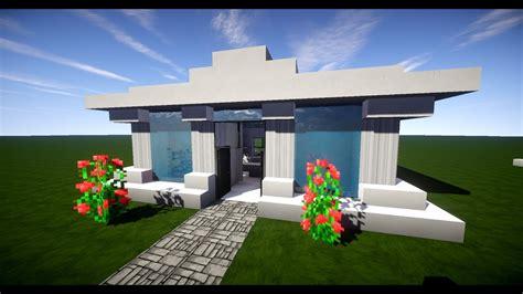 Minecraft Modernes Haus Mit Wasserdach Bauen 12x12