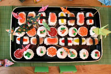 jacksons  birthday sushi party imagine  life
