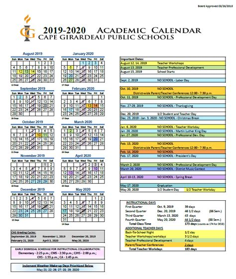 department education calendar education