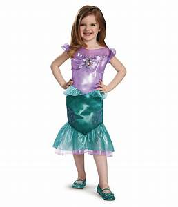 Classic Princess Ariel Girls Disney Dress Costume - Disney ...
