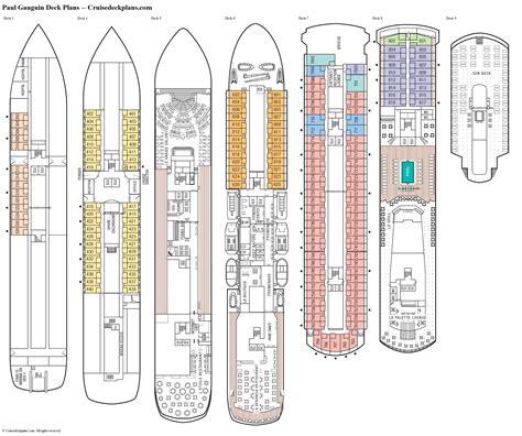Paul Gauguin Deck Plans Diagrams Pictures Video