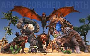 Ark Scorched Earth Wallpaper Wyvern Manticore Jerboa