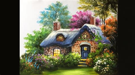 The Cottage Painting painting the basic cottage in acrylics lesson 3