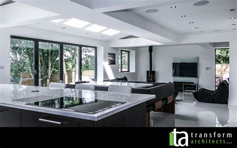 ideas for kitchen extensions contemporary rear extension open plan with bi folding doors transform architects house