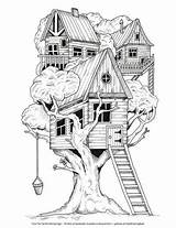 Coloring Library Tree Cleverpedia Printable Adult Colouring Drawing Malvorlagen Dessin Drawings Treehouse Coloriage Kostenlose Desenhos Colorier Zum Pintar Malen Grown sketch template