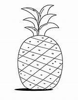 Pineapple Coloring Drawing Fruits Learn Drawings Word Preschool Toddlers Crafts Colornimbus Colors Visit Paintingvalley sketch template