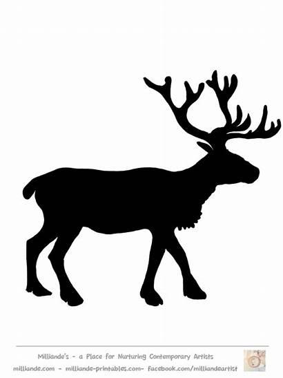 Reindeer Silhouette Clipart Printable Clip Silhouettes Deer