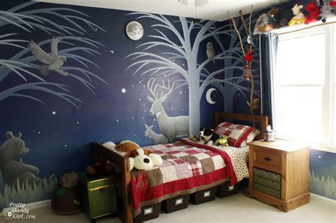 Boy's Forest Mural Bedroom