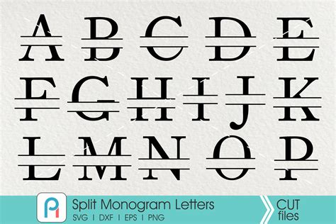 split letter monogram svg letter monogram svg sofontsy