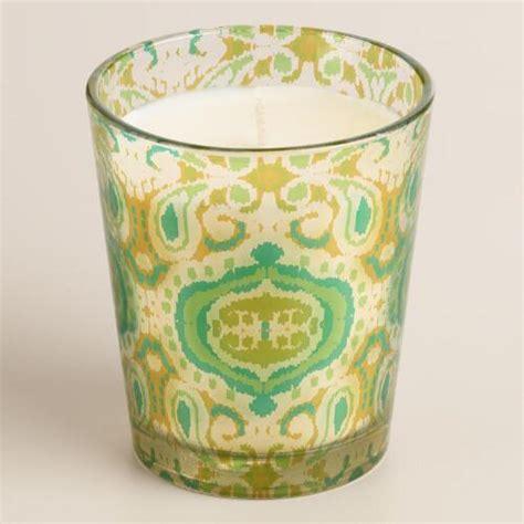 Panjor Lychee Bungalow Ikat Tumbler Candle  World Market
