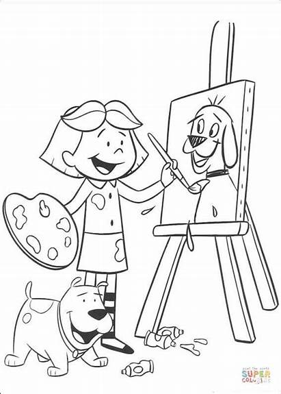 Coloring Pages Painting Emily Clifford Printable Dot