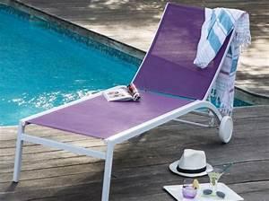 Chaise Longue Piscine : meubles de jardin craquez pour notre s lection color e elle d coration ~ Preciouscoupons.com Idées de Décoration