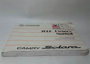 2000 Toyota Camry Solara Owners Manual User Guide