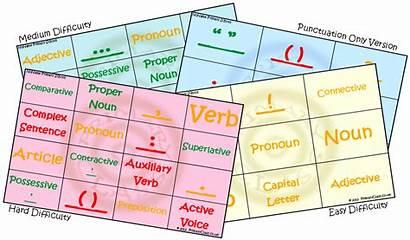Bingo Punctuation Hard Primaryclass Grammar English Sheet