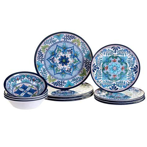 dicarlo heavy weight  piece melamine dinnerware set service   reviews birch lane