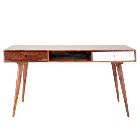bureau 150 cm bureau vintage en bois de sheesham massif l 150 cm