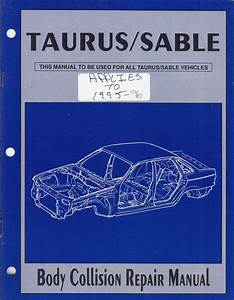 1996 Ford Taurus Sho Repair Shop Manual Original