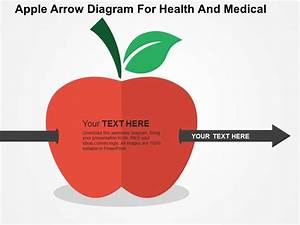 Apple Arrow Diagram For Health And Medical Flat Powerpoint