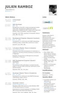 developing a resume exles sle resume for ui developer sle resume