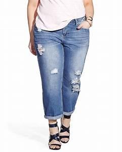 Plus Size Only Denim Distressed Boyfriend Jeans | Plus Sizes | Reitmans