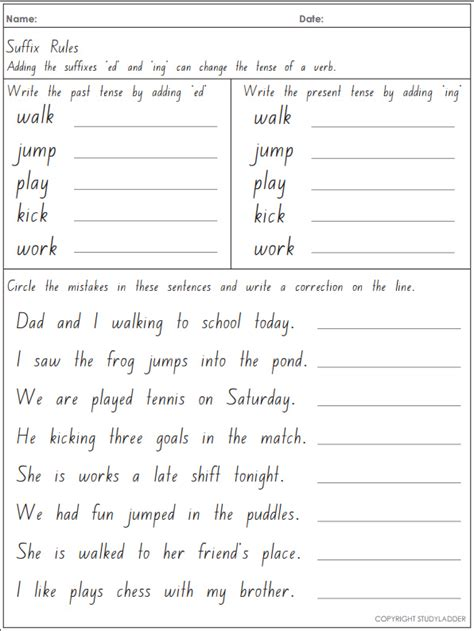 collection of adding ed and ing worksheets