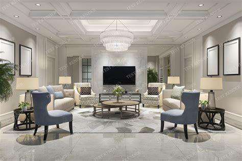 classic modern luxury living room  tv  model