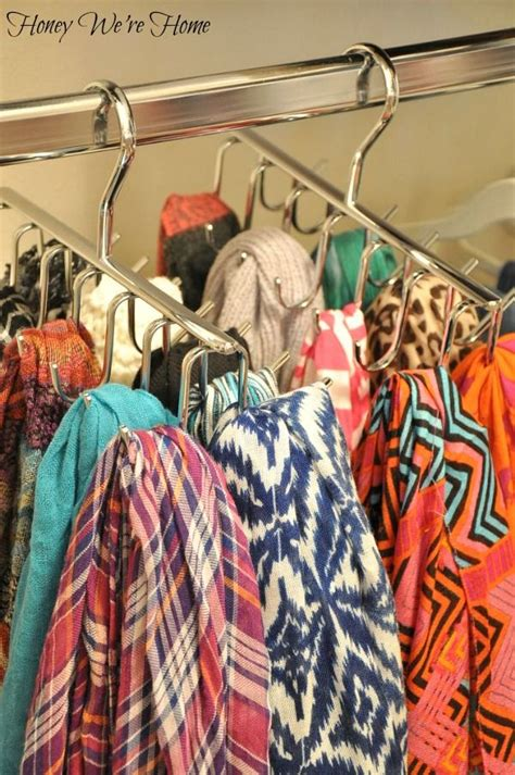 How To Organize Scarves In Your Closet by 17 Best Ideas About Hang Scarves On Organizing