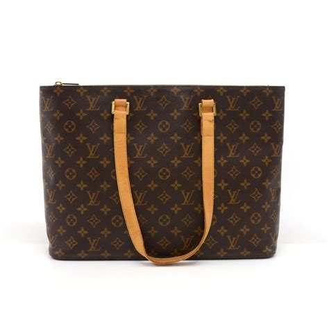 louis vuitton luco monogram large tote brown canvas shoulder bag tradesy