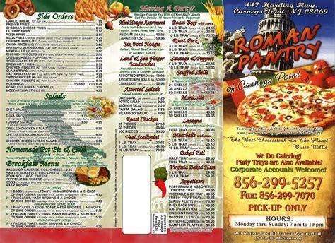 pantry pizza menu pantry menu menu for pantry penns grove