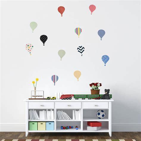 childrens hot air balloon wall stickers  oakdene