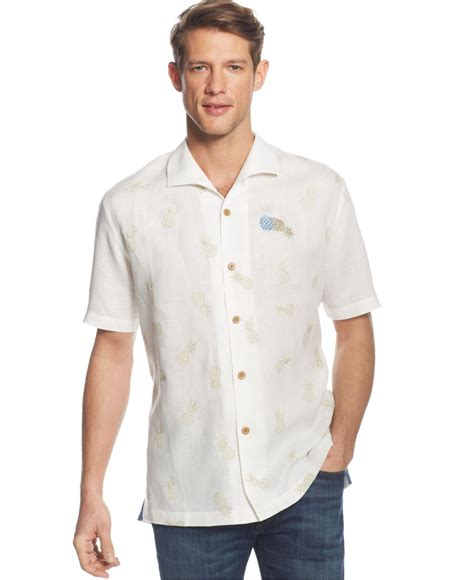 Lyst Tommy Bahama Pineapple Reign Linen Shirt In White
