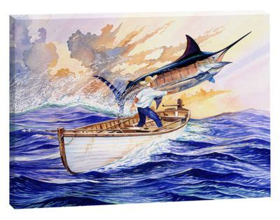 Old Boat Guy by Guy Harvey Canvas Art The Old Man And The Sea Bass Pro