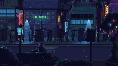 Pixel Aesthetic Night Cyberpunk Gifs Vaporwave Space