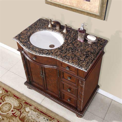 Bathroom Vanity With Center Sink 36 inch granite top center sink bathroom single