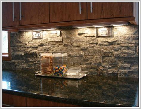 stacked stone backsplash home design  home design